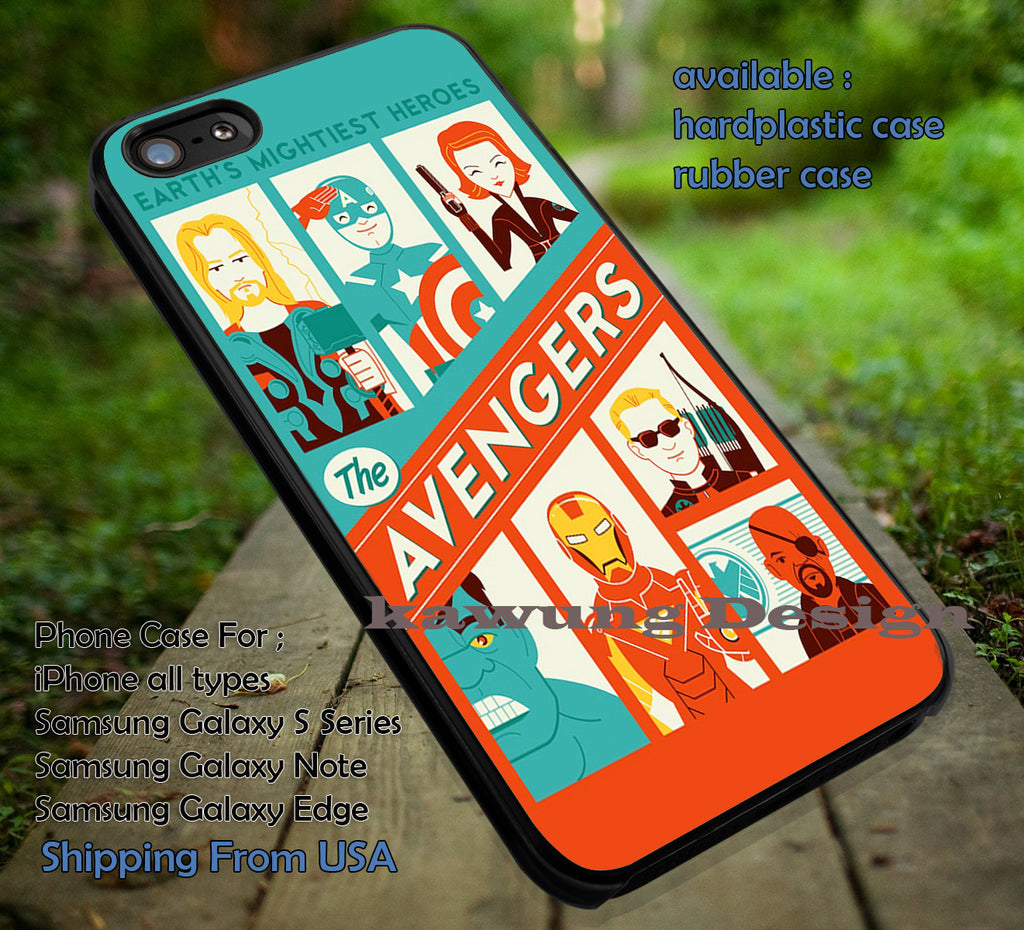 All Heros, The Avengers, Captain America, Ironman, Hulk, Thor, case/cover for iPhone 4/4s/5/5c/6/6+/6s/6s+ Samsung Galaxy S4/S5/S6/Edge/Edge+ NOTE 3/4/5 #cartoon #disney #animated  #marvel #comic #movie ii - Kawung Design  - 1