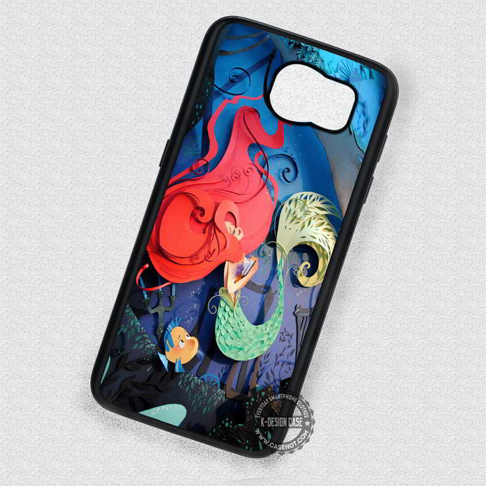 3d Art Ariel The Little Mermaid - Samsung Galaxy S7 S6 S4 Note 5 Cases & Covers - Kawung Design  - 1