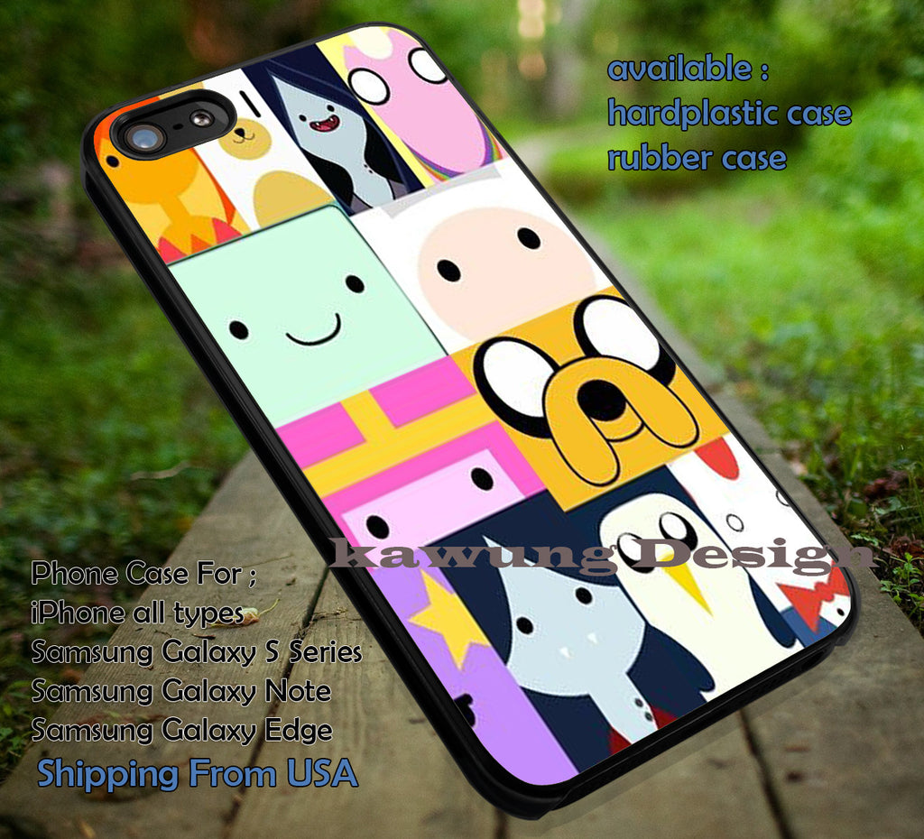 Adventure Character Collage, Adventure Time, Character Collage, case/cover for iPhone 4/4s/5/5c/6/6+/6s/6s+ Samsung Galaxy S4/S5/S6/Edge/Edge+ NOTE 3/4/5 #cartoon #anime #adventuretime iin - Kawung Design  - 1