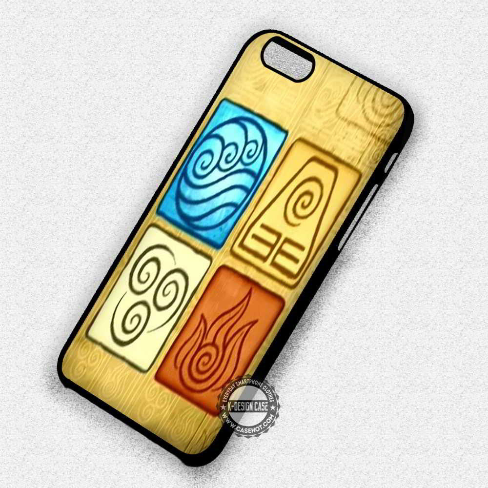 4 Elements Avatar The Last Air Bender - iPhone 7 6 Plus 5c 5s SE Cases & Covers - Kawung Design  - 1