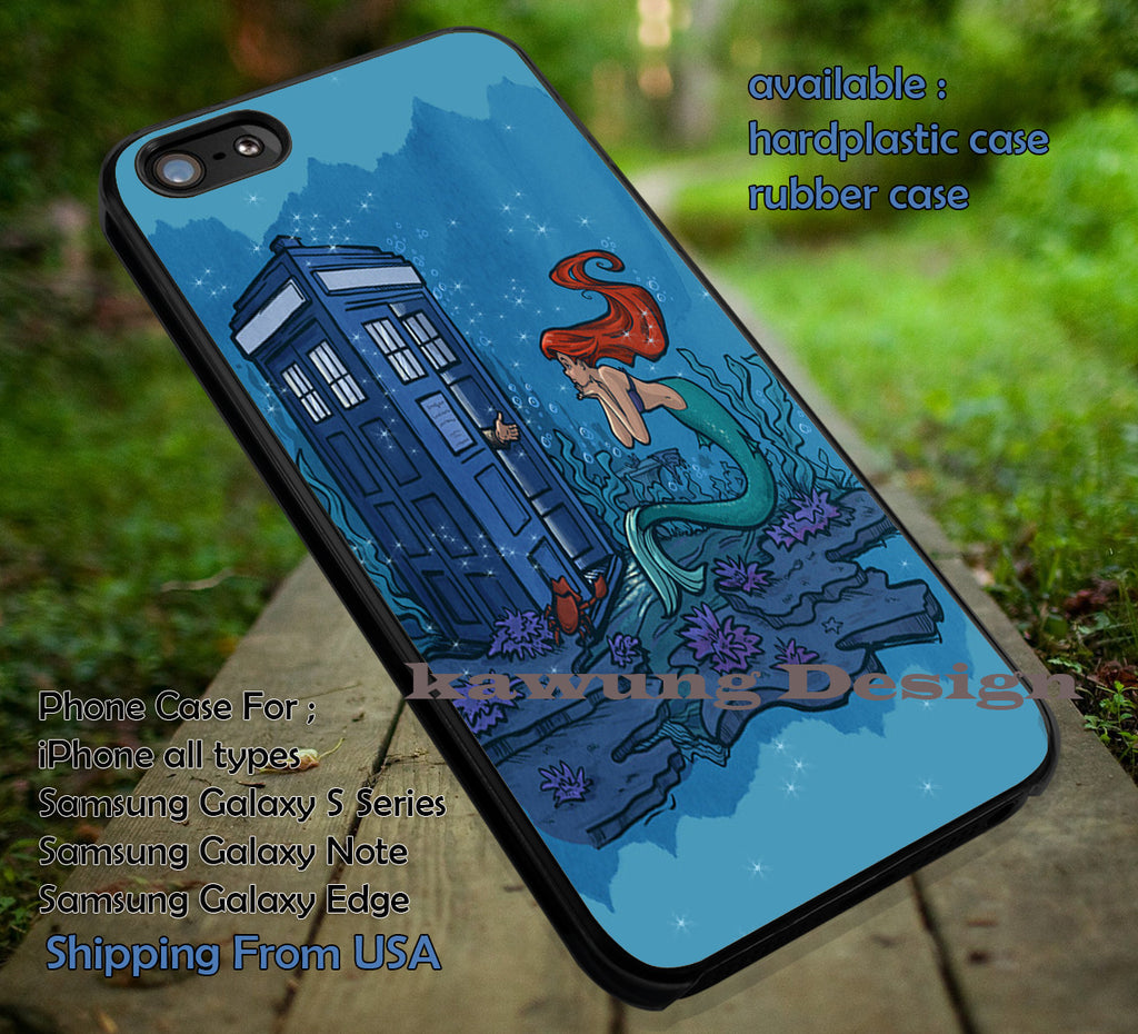 Ariel and Tardis Disney Princess iPhone X 8+ 7 6s Cases Samsung Galaxy S8 S7 edge NOTE 8 5 4