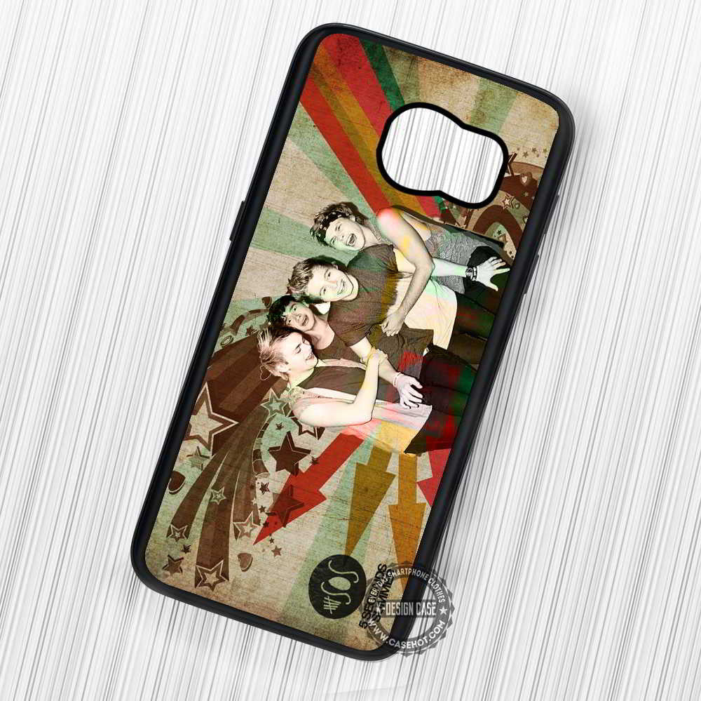 5 Seconds Of Summer Popular Band Vintage - Samsung Galaxy S7 S6 S5 Note 7 Cases & Covers - Kawung Design  - 1