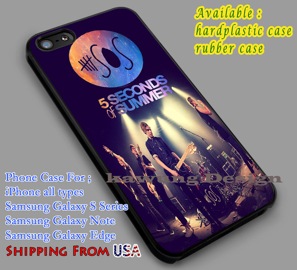 5SOS Live iPhone 6s 6 6s+ 5c 5s Cases Samsung Galaxy s5 s6 Edge+ NOTE 5 4 3 #music #5sos dl5 - K-Designs