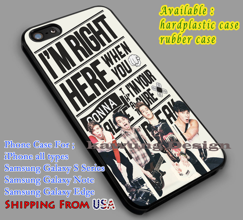 5SOS Lyric Collage iPhone 6s 6 6s+ 5c 5s Cases Samsung Galaxy s5 s6 Edge+ NOTE 5 4 3 #music #5sos dl5 - K-Designs