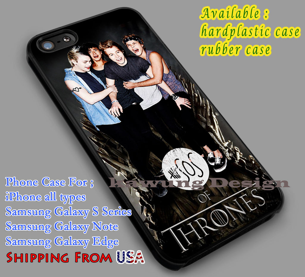 5SOS of Thrones iPhone 6s 6 6s+ 5c 5s Cases Samsung Galaxy s5 s6 Edge+ NOTE 5 4 3 #music #5sos dl5 - K-Designs