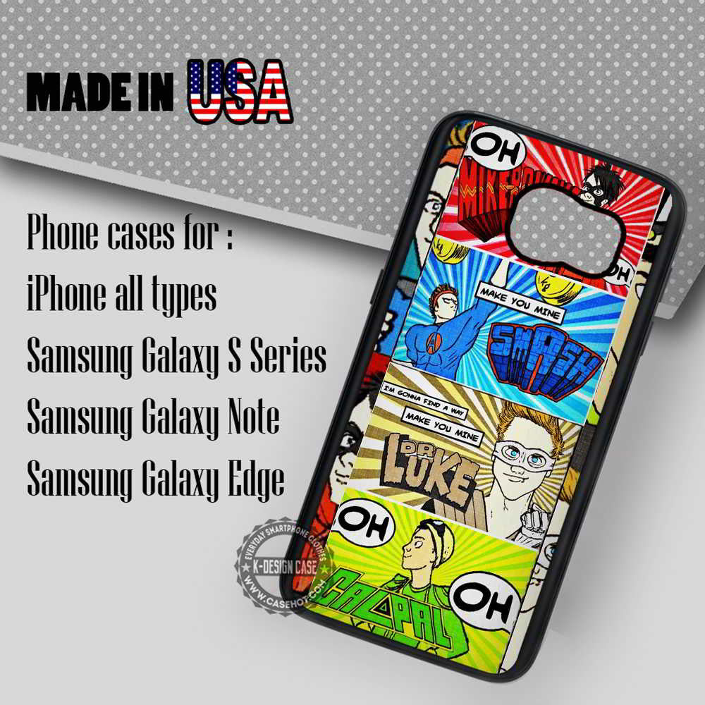 5 Seconds Of Summer Comic - Samsung Galaxy S7 S6 S5 Note 5 Cases & Covers