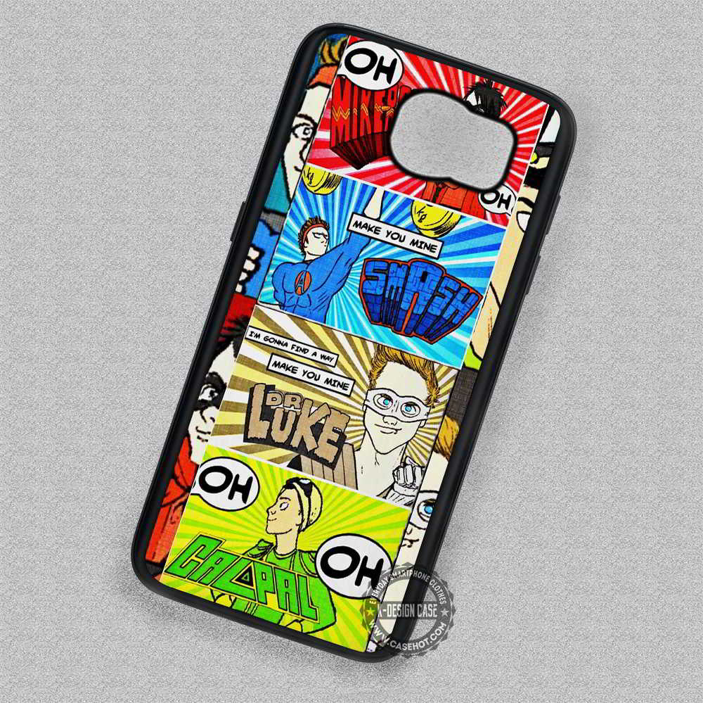 5 Seconds Of Summer Comic - Samsung Galaxy S7 S6 S5 Note 7 Cases & Covers - Kawung Design  - 1