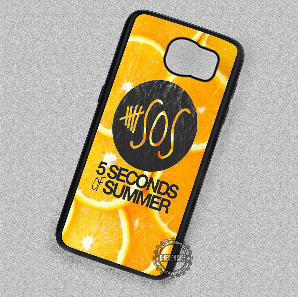 5 Seconds Of Summer Logo Orange - Samsung Galaxy S7 S6 S5 Note 4 Cases & Covers - Kawung Design  - 1