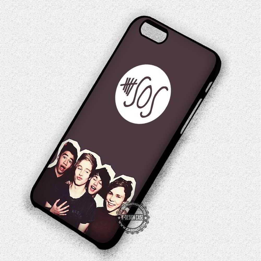 5 Seconds Of Summer 5SOS - iPhone 7 6 5 SE Cases & Covers - Kawung Design  - 1