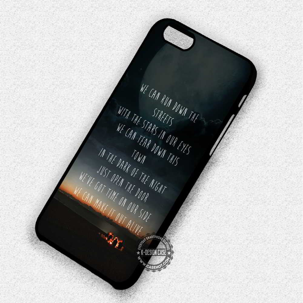 5 Seconds Of Summer 5 Seconds Of Summer Unpredictable Lyrics - iPhone 7 6S 5 SE 4 Cases & Covers - Kawung Design  - 1