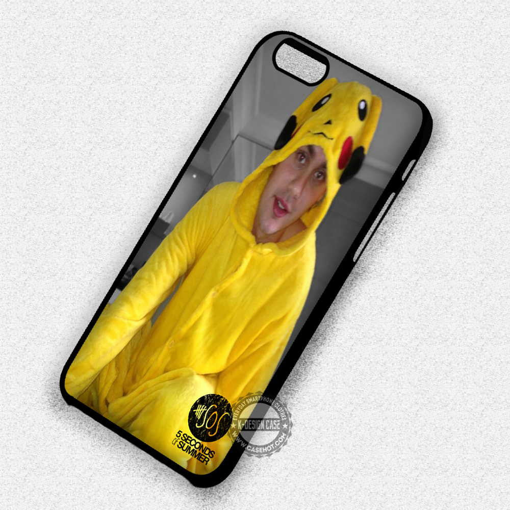 5 Seconds of Summer Clifford with Pikachu Costume - iPhone 7 Plus 6S SE Cases & Covers - Kawung Design  - 1