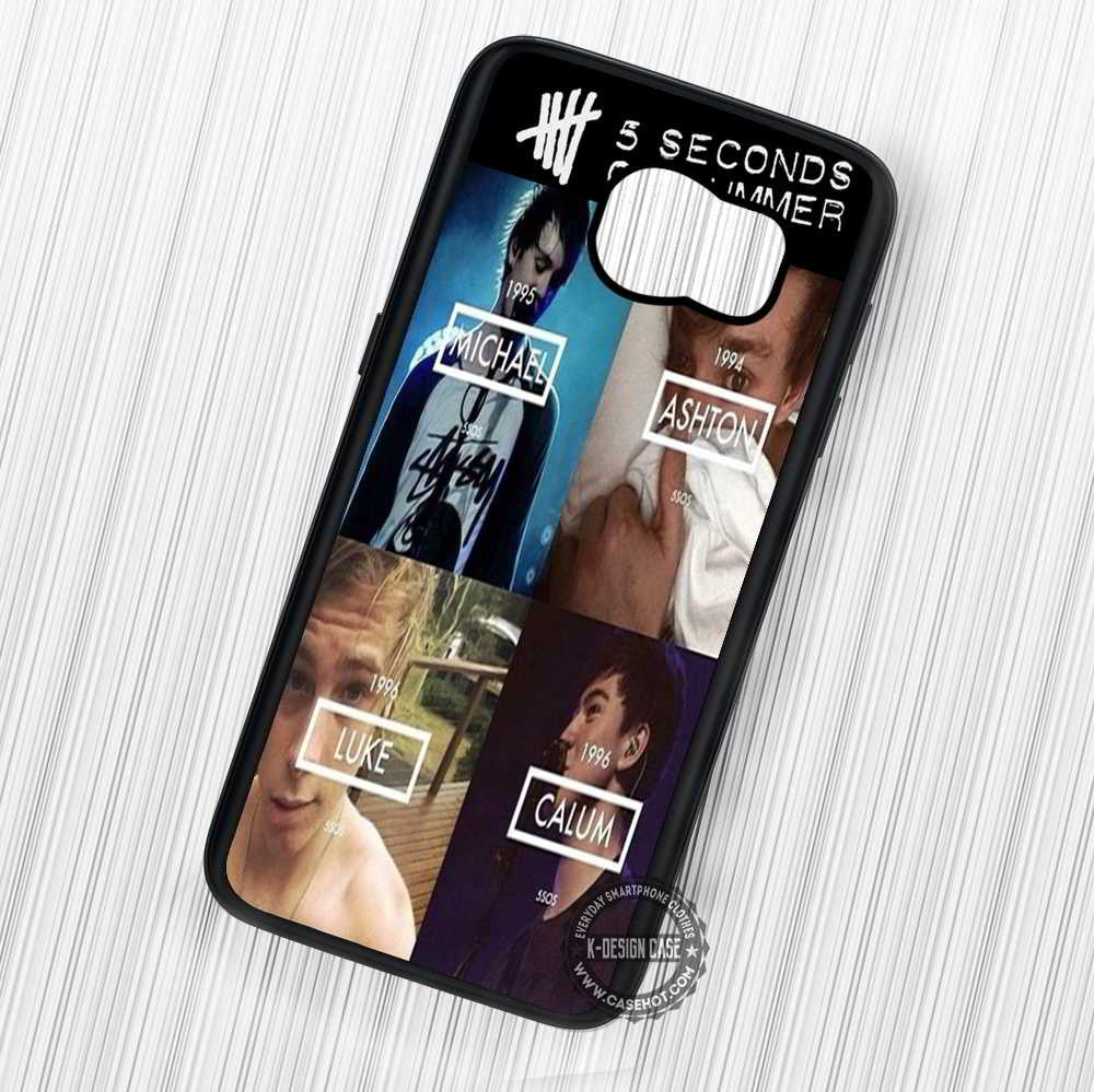 5 Seconds of Summer Born Date and Name - Samsung Galaxy S7 S6 S5 Note 7 Cases & Covers - Kawung Design  - 1