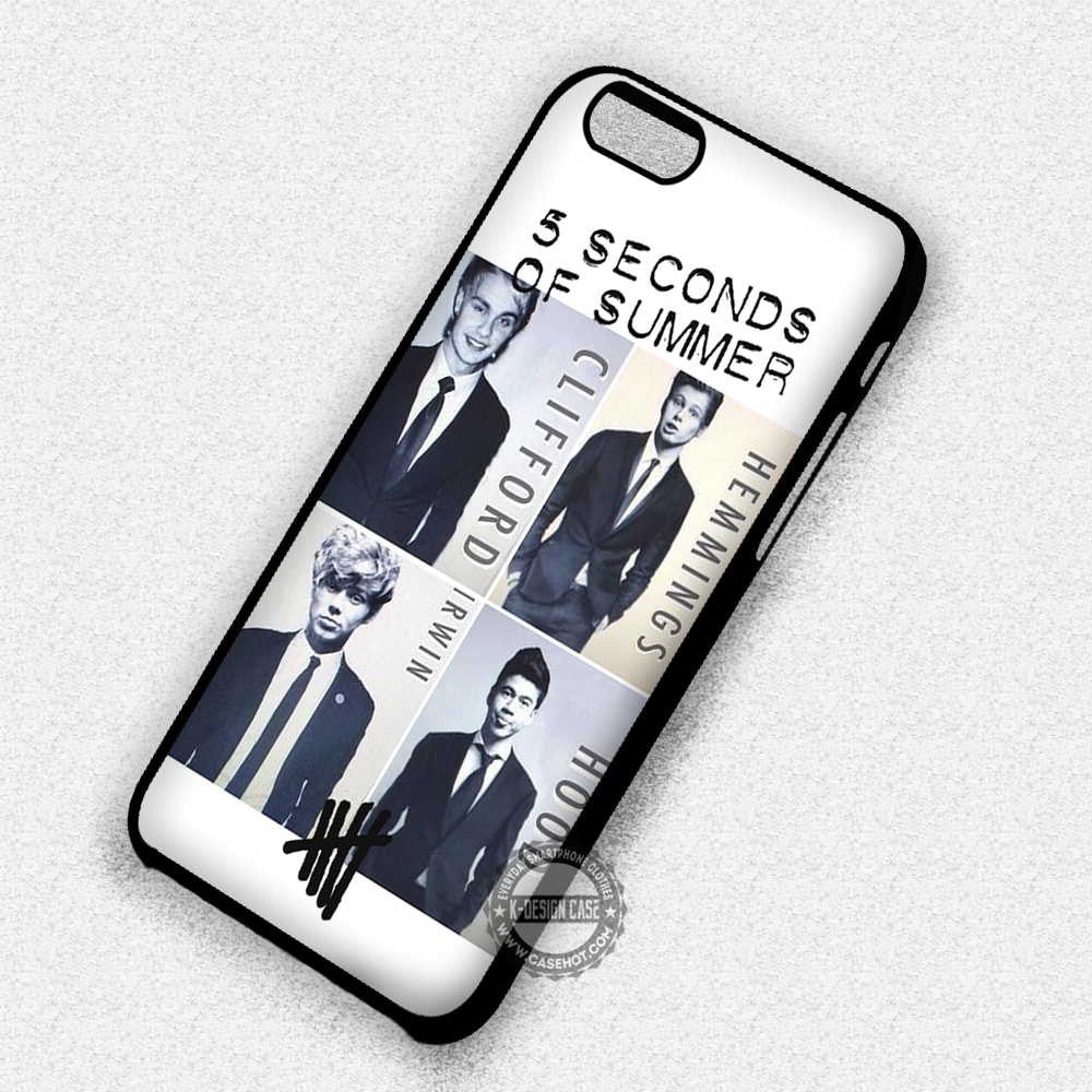 5 Seconds of Summer Members in Suit - iPhone 7 Plus 6S SE Cases & Covers - Kawung Design  - 1