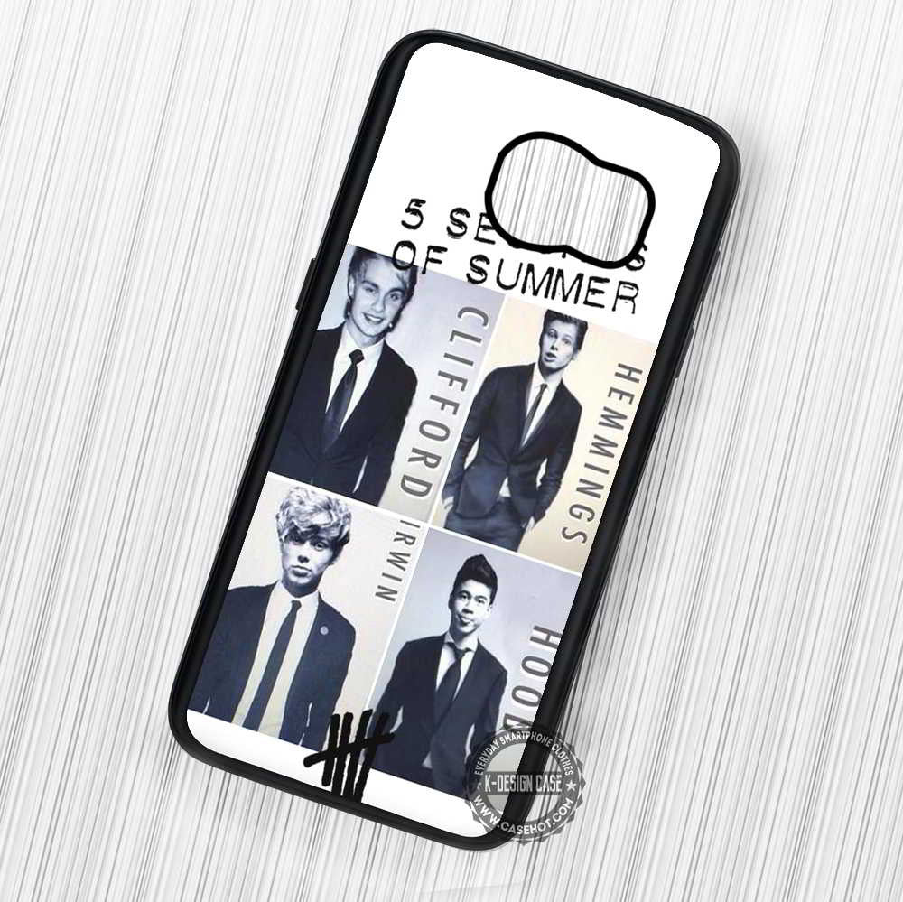 5 Seconds of Summer Members in Suit - Samsung Galaxy S7 S6 S5 Note 7 Cases & Covers - Kawung Design  - 1