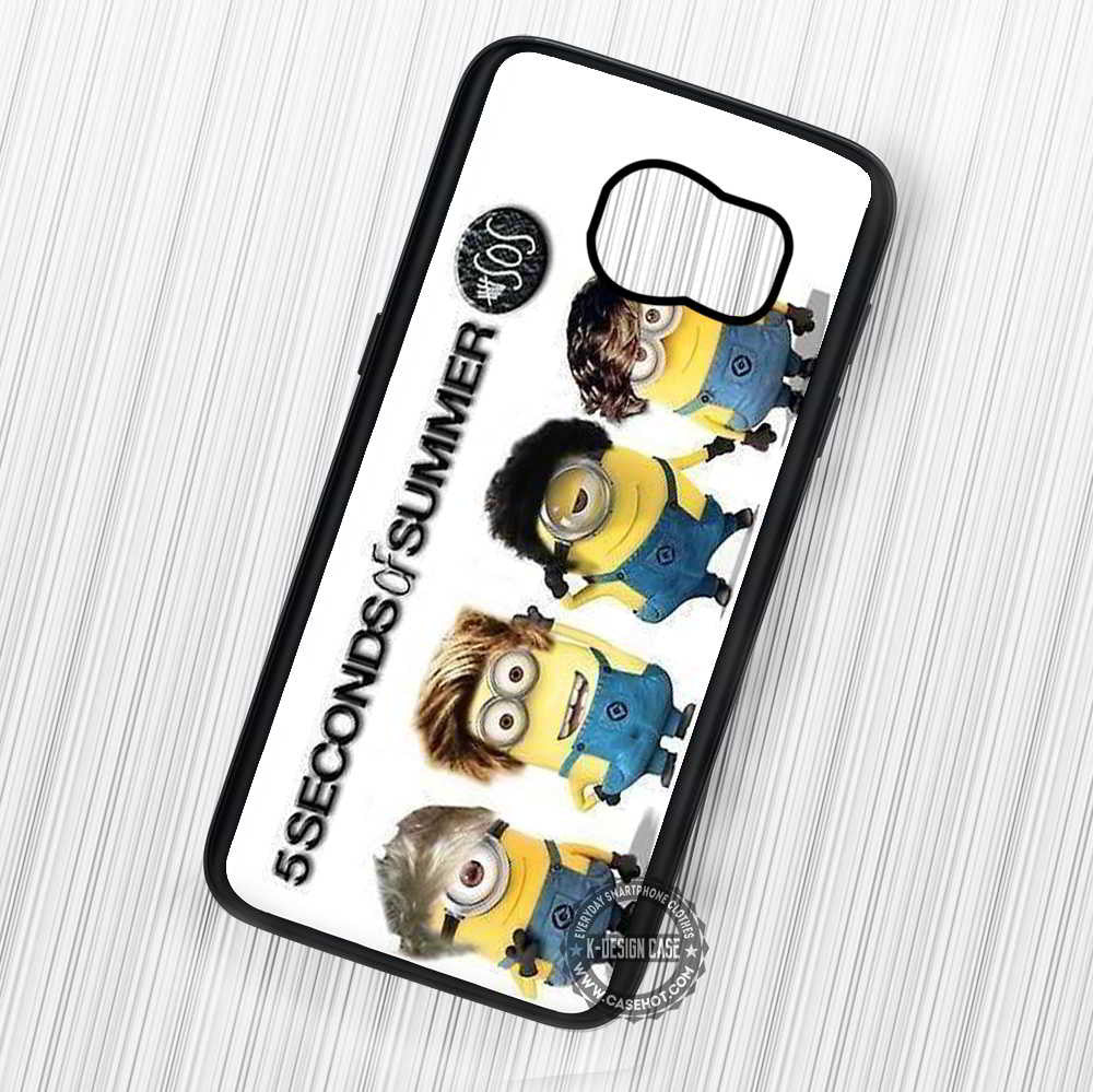 5 Seconds of Summer Minion Version - Samsung Galaxy S7 S6 S5 Note 7 Cases & Covers - Kawung Design  - 1