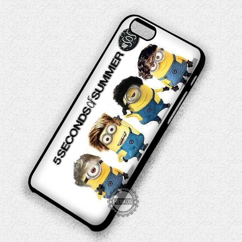 5 Seconds of Summer Minion Version 5SOS - iPhone 7 Plus 6S SE Cases & Covers - Kawung Design  - 1