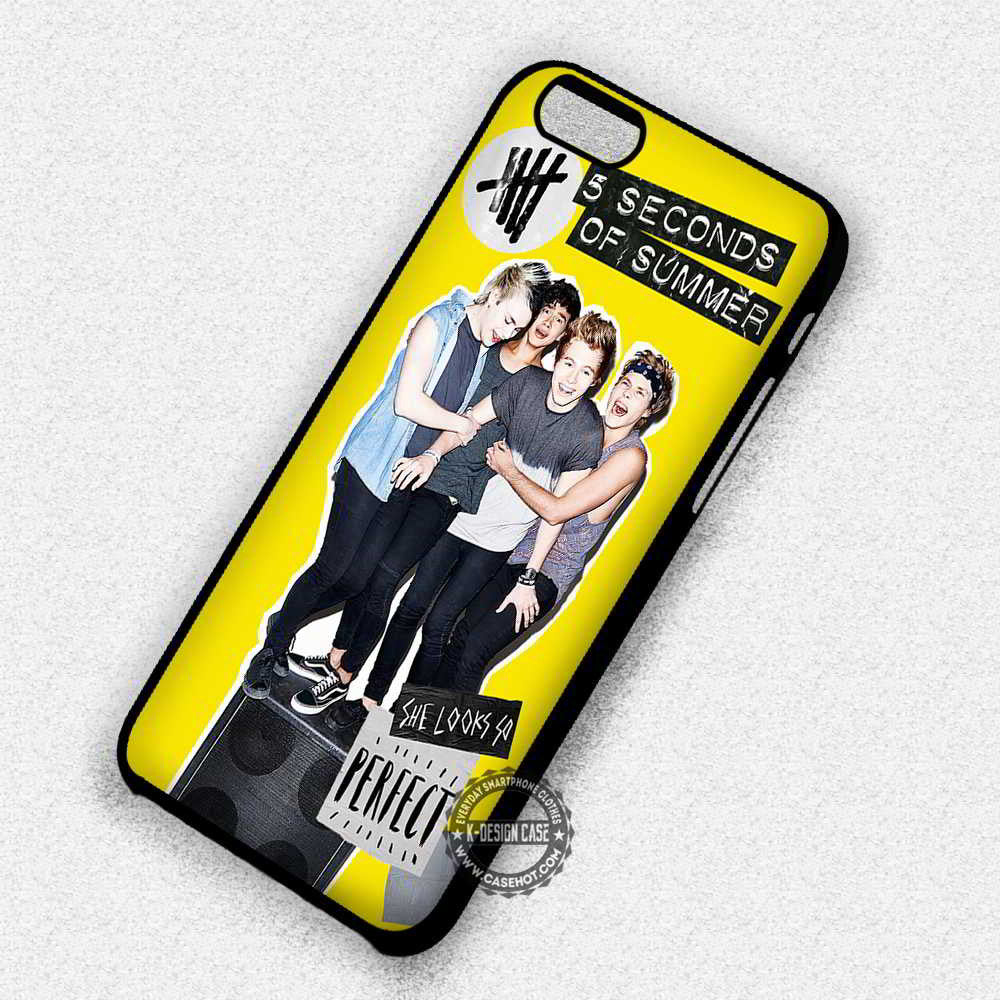 5 Seconds of Summer 5 Seconds of Summer She Looks So Perfect - iPhone 7 6S 5 SE 4 Cases & Covers - Kawung Design  - 1
