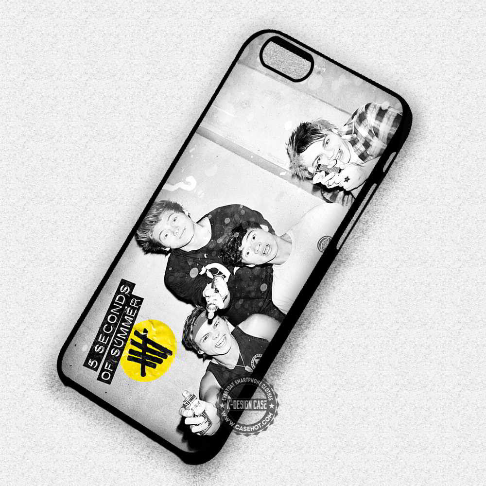 5 Seconds of Summer 5 Seconds of Summer Black and White Collage - iPhone 7 6S 5 SE 4 Cases & Covers - Kawung Design  - 1