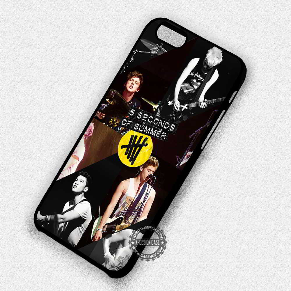 5 Seconds Of Summer Collage Ashton Calum Luke - iPhone 7 6 5 SE Cases & Covers - Kawung Design  - 1
