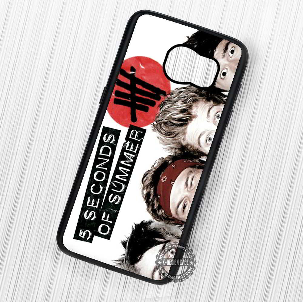5 Seconds of Summer Funny Eyes and Logo - Samsung Galaxy S7 S6 S5 Note 7 Cases & Covers - Kawung Design  - 1