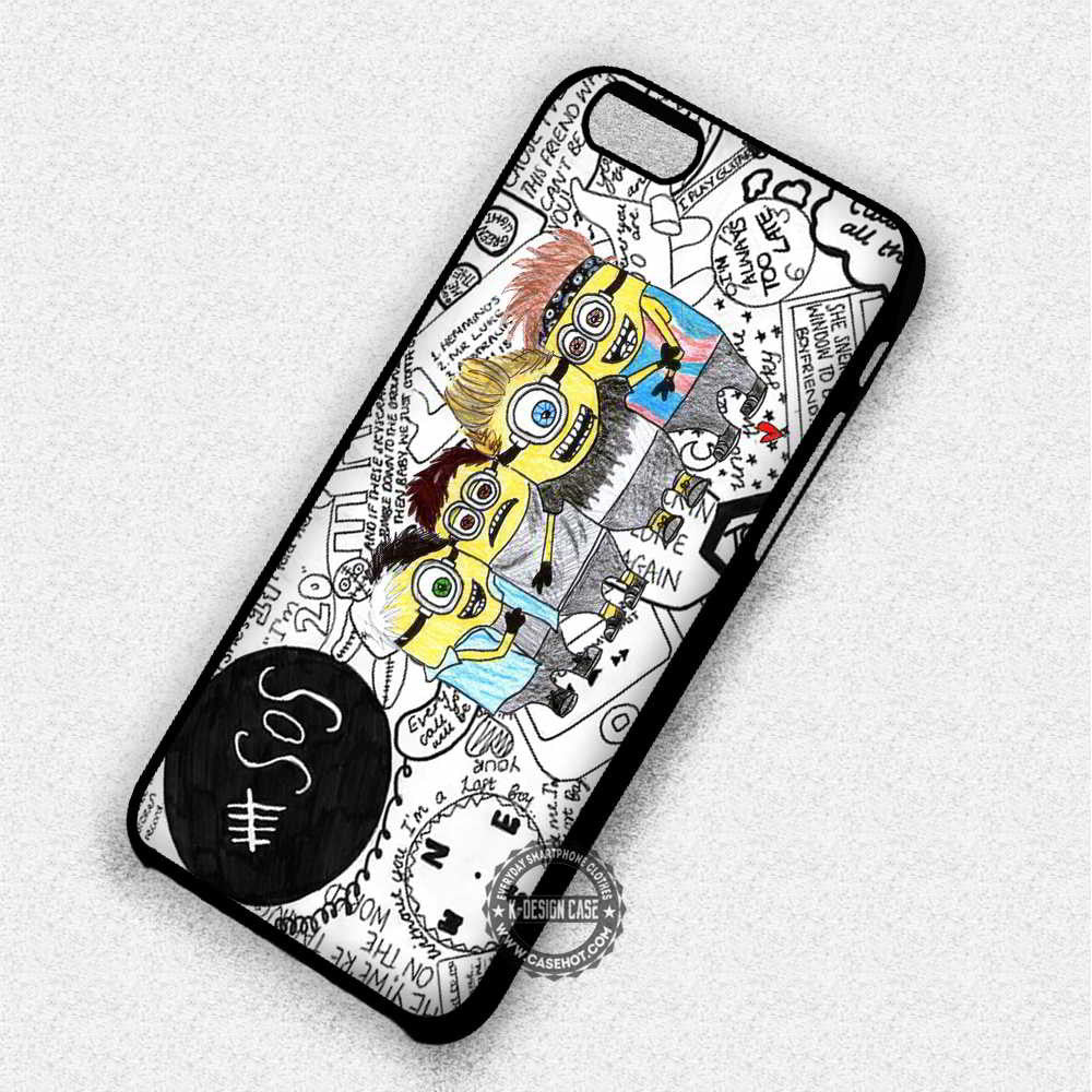 5 Seconds of Summer Minions Collage - iPhone 7 6 5 SE Cases & Covers - Kawung Design  - 1