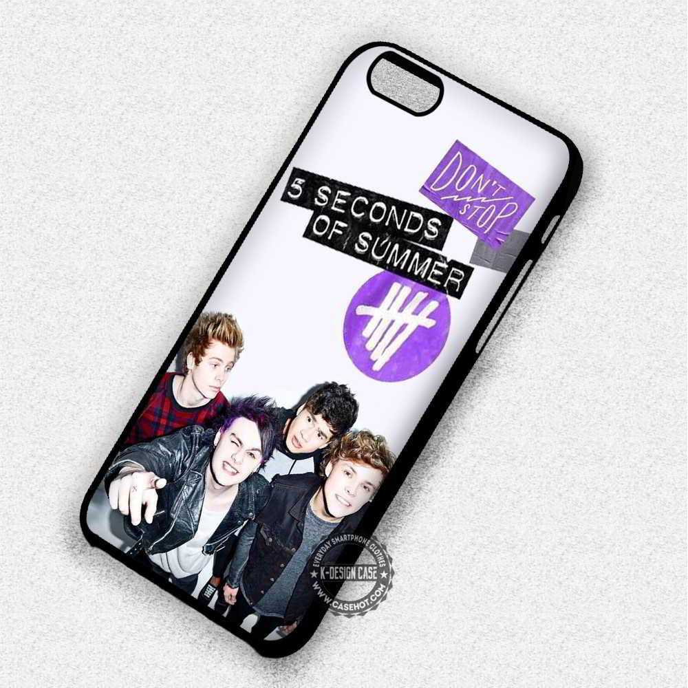 5 Seconds of Summer Poster - iPhone 7 6 5 SE Cases & Covers - Kawung Design  - 1