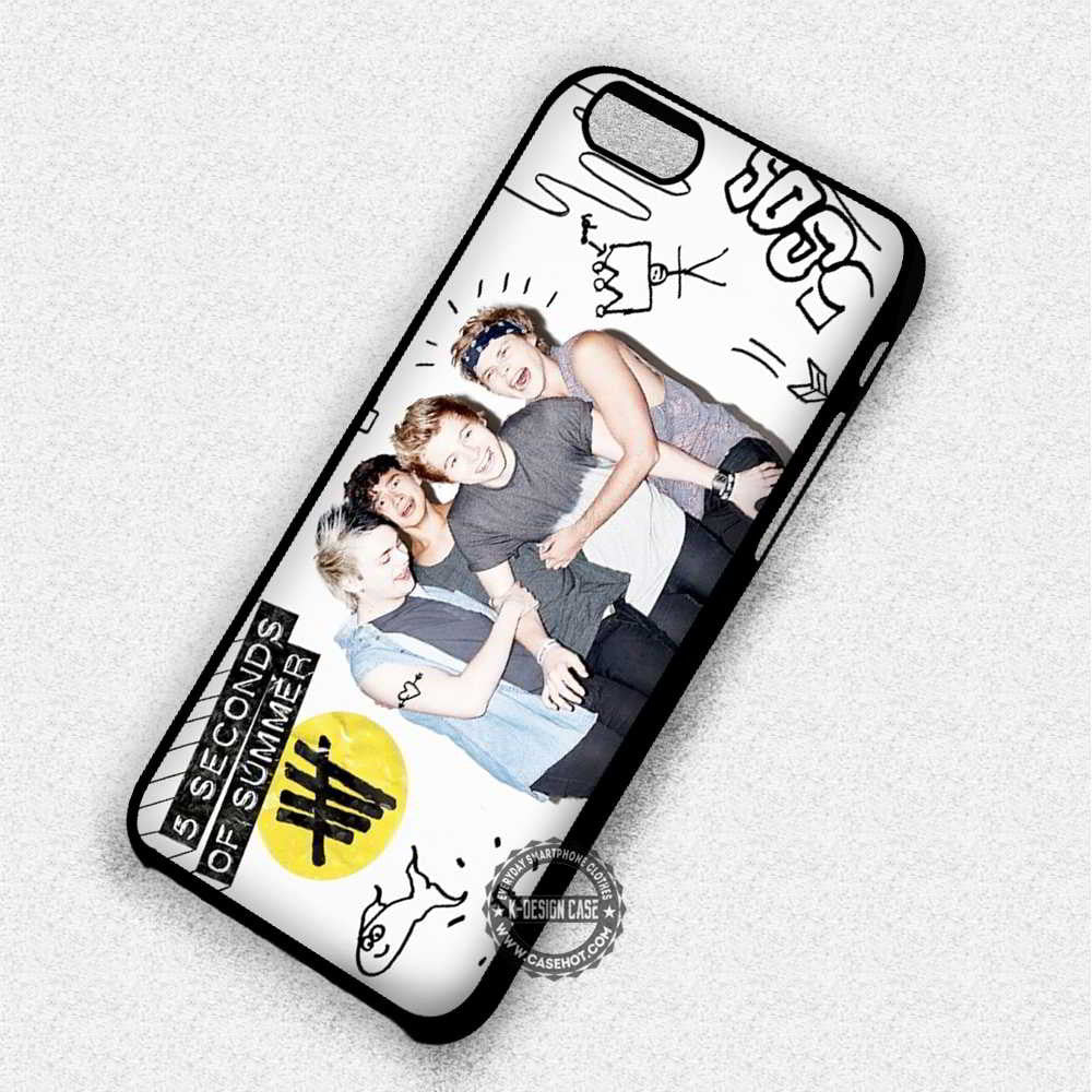 5 Seconds of Summer Luke Hemmings - iPhone 7 6 4 Cases & Covers - Kawung Design  - 1
