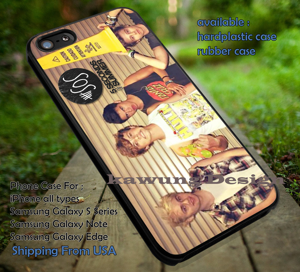 Logo funny, together, 5sos logo, calum, luke, ashton, mikey, 5sos, 5 Second of Summer, case/cover for iPhone 4/4s/5/5c/6/6+/6s/6s+ Samsung Galaxy S4/S5/S6/Edge/Edge+ NOTE 3/4/5 #music #5sos ii - Kawung Design  - 1
