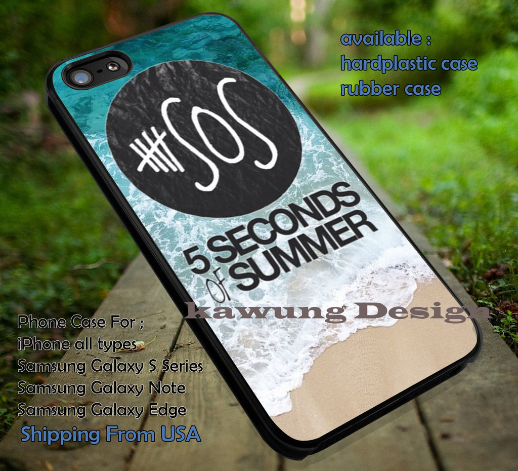 5 Second of Summer on sand and water, calum hood, tattoo, 5sos, case/cover for iPhone 4/4s/5/5c/6/6+/6s/6s+ Samsung Galaxy S4/S5/S6/Edge/Edge+ NOTE 3/4/5 #music #5sos ii - K-Designs