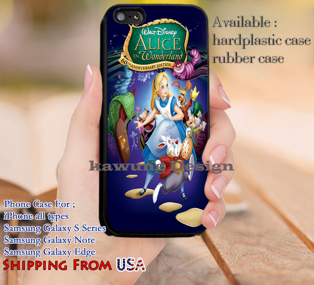 60th Anniversary Edition Alice in Wonderland iPhone 6s 6 6s+ 5c 5s Cases Samsung Galaxy s5 s6 Edge+ NOTE 5 4 3 #cartoon #anime #alice dl12 - K-Designs