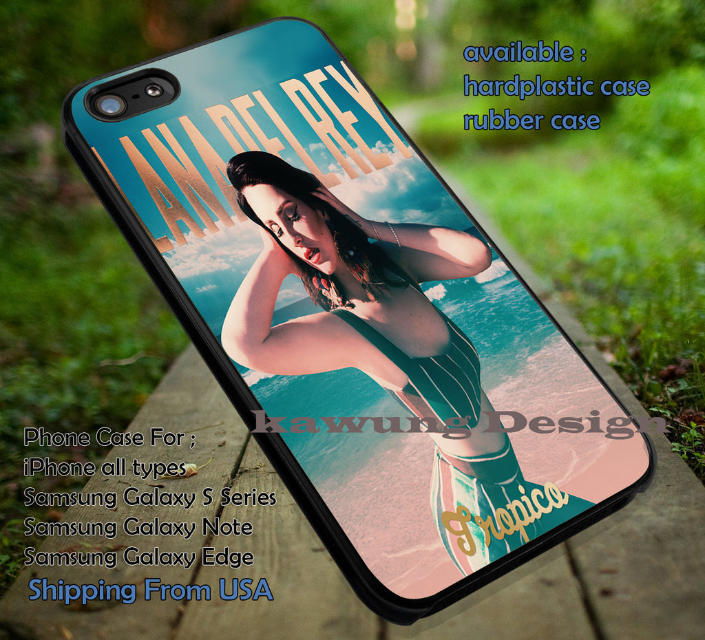 Beach Heat, Lana Del Rey, Tropico, Tropico Treasure, case/cover for iPhone 4/4s/5/5c/6/6+/6s/6s+ Samsung Galaxy S4/S5/S6/Edge/Edge+ NOTE 3/4/5 #cartoon #music #lana ii - Kawung Design  - 1