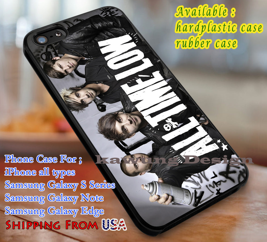 All Time Low Logo iPhone 6s 6 6s+ 6plus Cases Samsung Galaxy s5 s6 Edge+ NOTE 5 4 3 #music #atl dl3 - Kawung Design  - 1
