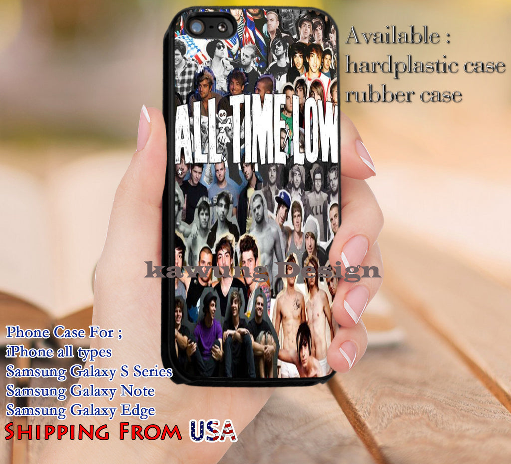 All Time Low Collage iPhone 6s 6 6s+ 5c 5s Cases Samsung Galaxy s5 s6 Edge+ NOTE 5 4 3 #music #atl dl10 - Kawung Design  - 1