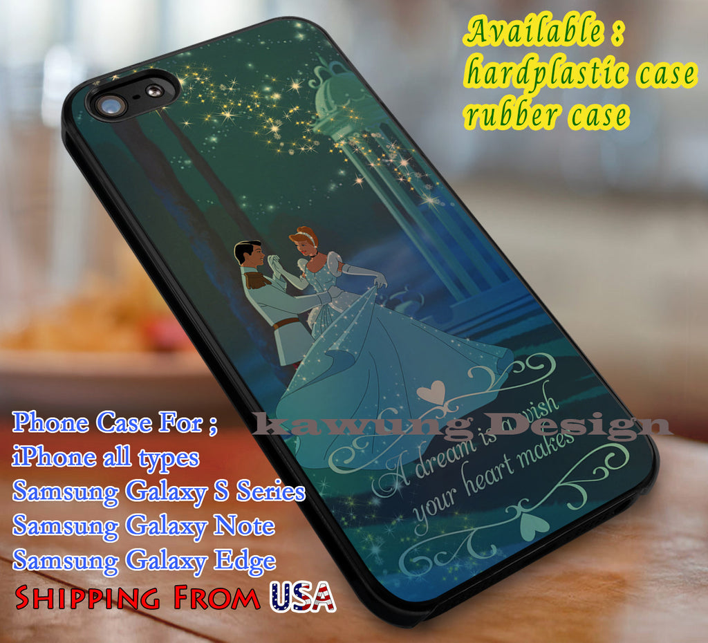 A Dream Cinderella Quotes iPhone 6s 6 6s+ 6plus Cases Samsung Galaxy s5 s6 Edge+ NOTE 5 4 3 #cartoon #animated #disney #Cinderella dl3 - K-Designs