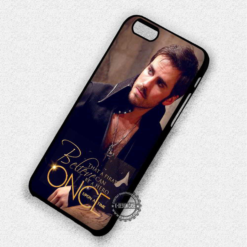 Can Be Hero Once Upon a Time Captain Hook - iPhone 7 6 Plus 5c 5s SE Cases & Covers - Kawung Design  - 1