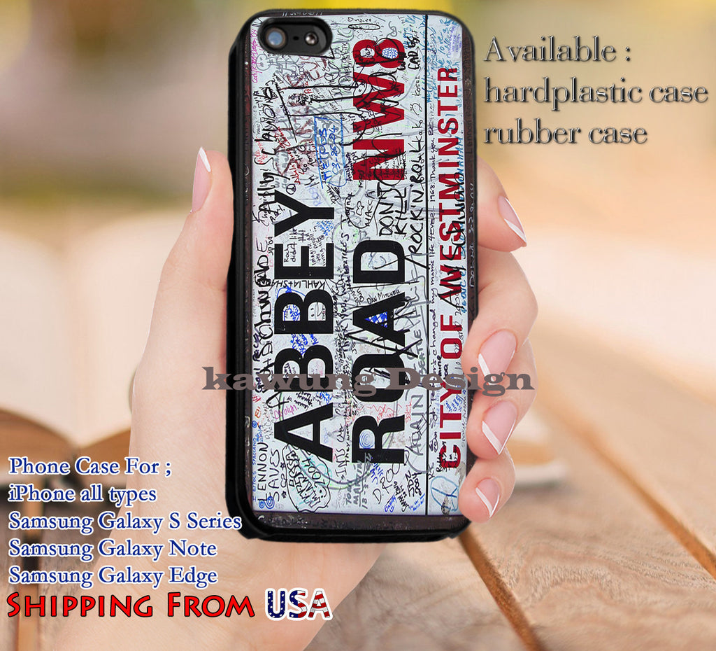 Abbey Road Street Sign The Beatles iPhone 6s 6 6s+ 5c 5s Cases Samsung Galaxy s5 s6 Edge+ NOTE 5 4 3 #music #betls dl12 - Kawung Design  - 1