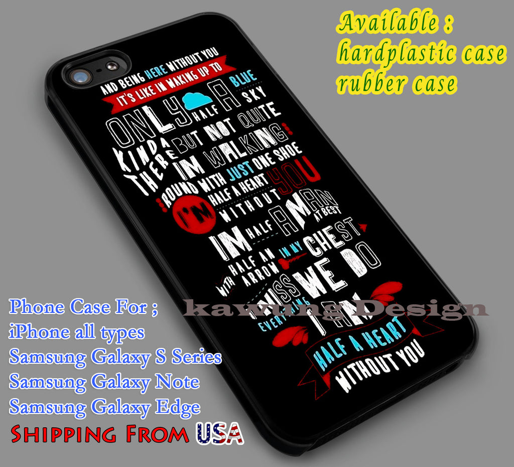 Absolutely Love One Direction Lyric iPhone 7 7+ 6s 6 Cases Samsung Galaxy S8 S7 edge S6 S5 NOTE 5 4