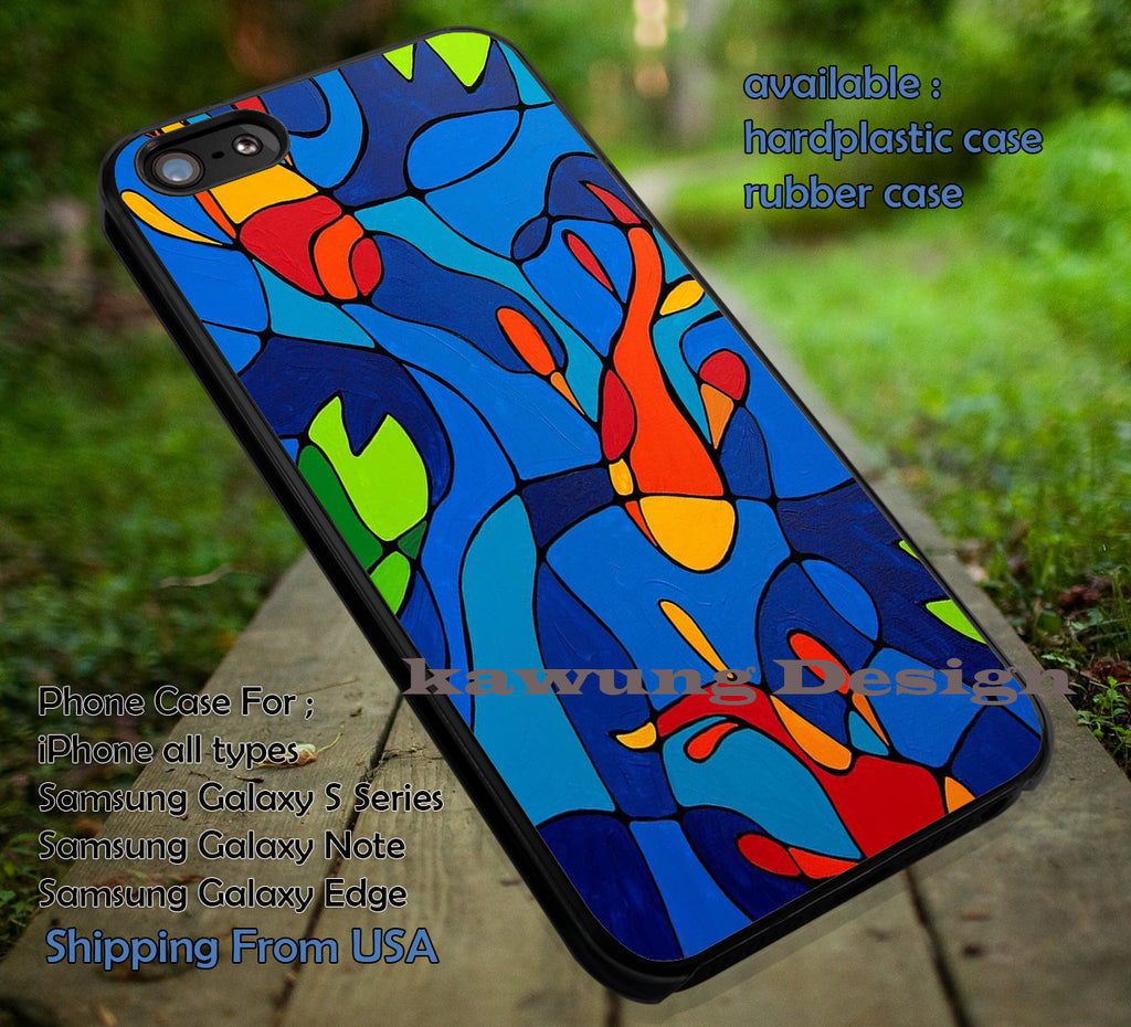 Abstract Koi Fish Stained Glass iPhone 6s 6 6s+ 6plus Cases Samsung Galaxy s5 s6 Edge+ NOTE 5 4 3 #art ii - Kawung Design  - 1