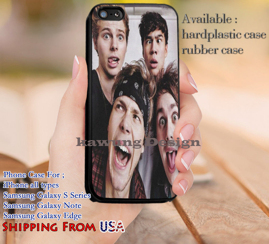 Adorkable Boys 5SOS iPhone 6s 6 6s+ 5c 5s Cases Samsung Galaxy s5 s6 Edge+ NOTE 5 4 3 #music #5sos dl12 - Kawung Design  - 1