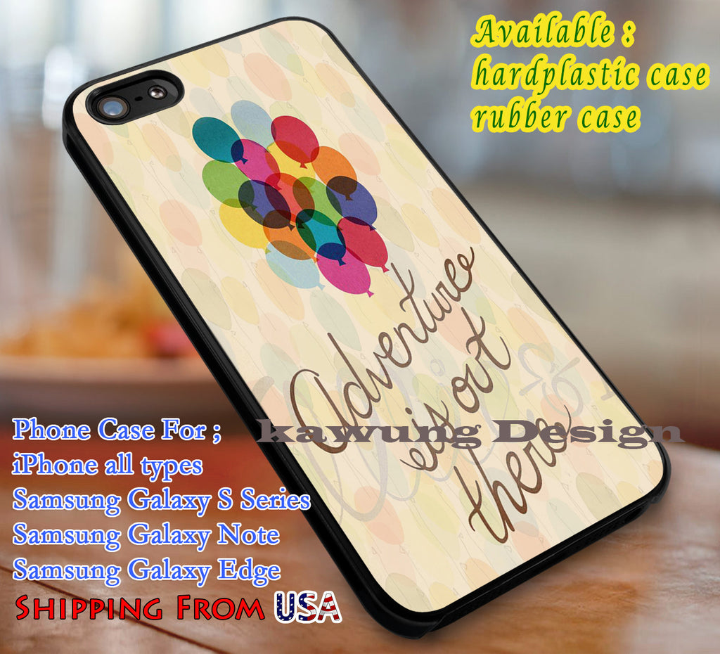 Adventure is Out There Up Quote iPhone 6s 6 6s+ 6plus Cases Samsung Galaxy s5 s6 Edge+ NOTE 5 4 3 #cartoon #disney #animated #up dL3 - Kawung Design  - 1