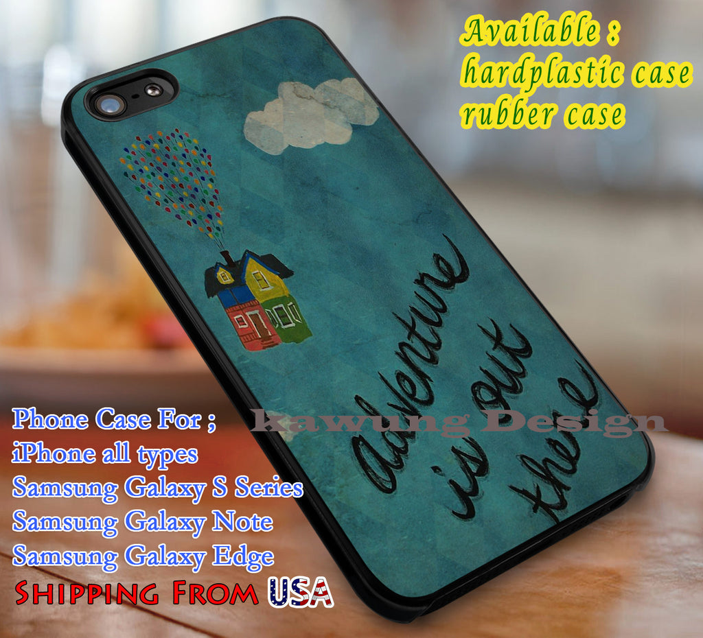 Adventure is Out There Quote Disney iPhone 6s 6 6s+ 6plus Cases Samsung Galaxy s5 s6 Edge+ NOTE 5 4 3 #cartoon #disney #animated #up dL3 - Kawung Design  - 1