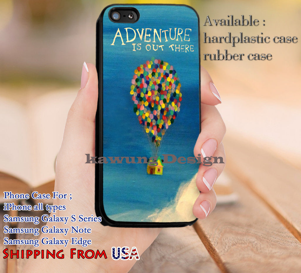 Adventure is Out There Up Quotes iPhone 6s 6 6s+ 5c 5s Cases Samsung Galaxy s5 s6 Edge+ NOTE 5 4 3 #cartoon #disney #animated #up dl13 - Kawung Design  - 1
