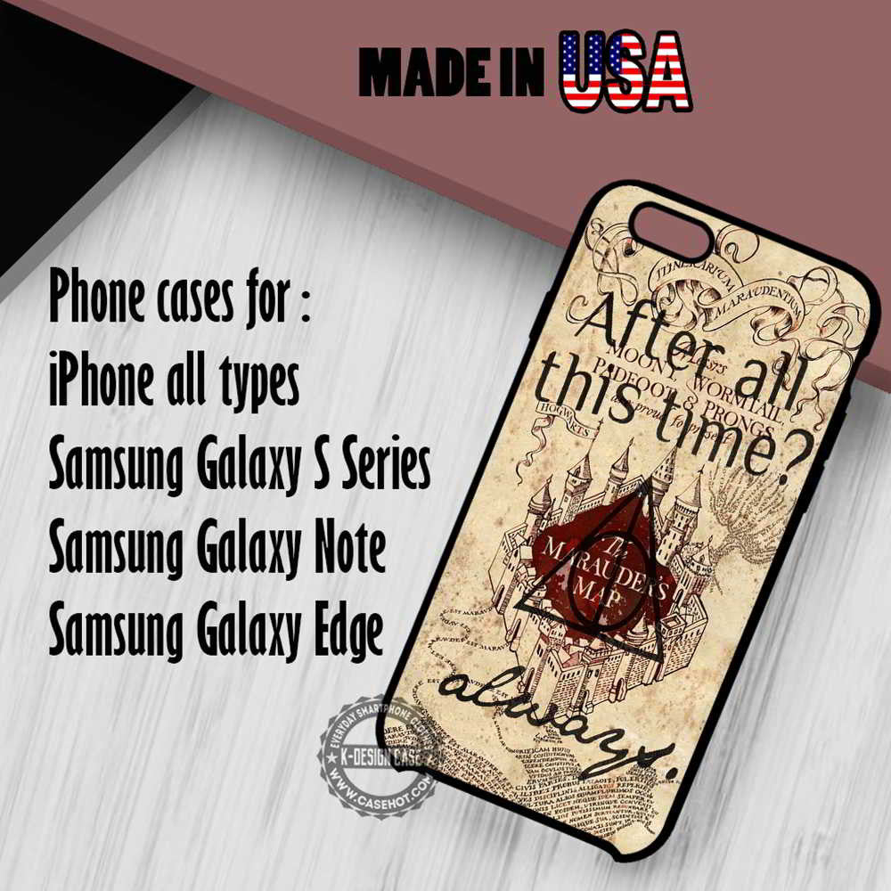 Marauders Map Harry Potter Quote iPhone 7 7+ 6s 6 SE Cases Samsung Galaxy S7 edge S6 S5  NOTE 7 5 4 3