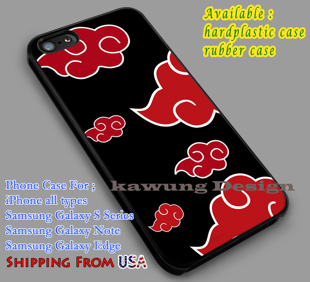Akatsuki Cloud Naruto  iPhone 7 7+ 6s 6 Cases Samsung Galaxy S8 S7 edge S6 S5  NOTE 5 4 3