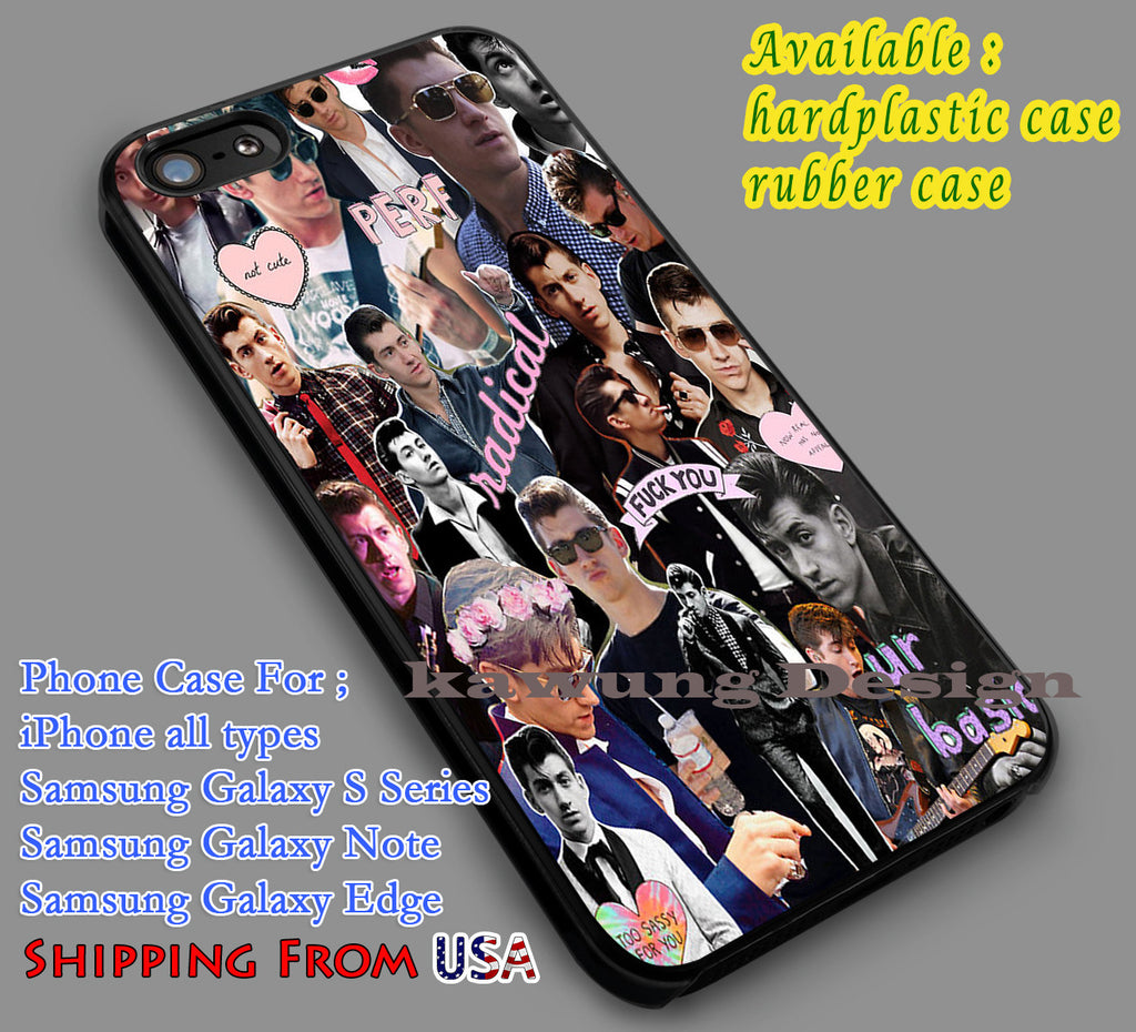 Alex Turner Collage iPhone 6s 6 6s+ 5c 5s Cases Samsung Galaxy s5 s6 Edge+ NOTE 5 4 3 #music #arc dl7 - Kawung Design  - 2