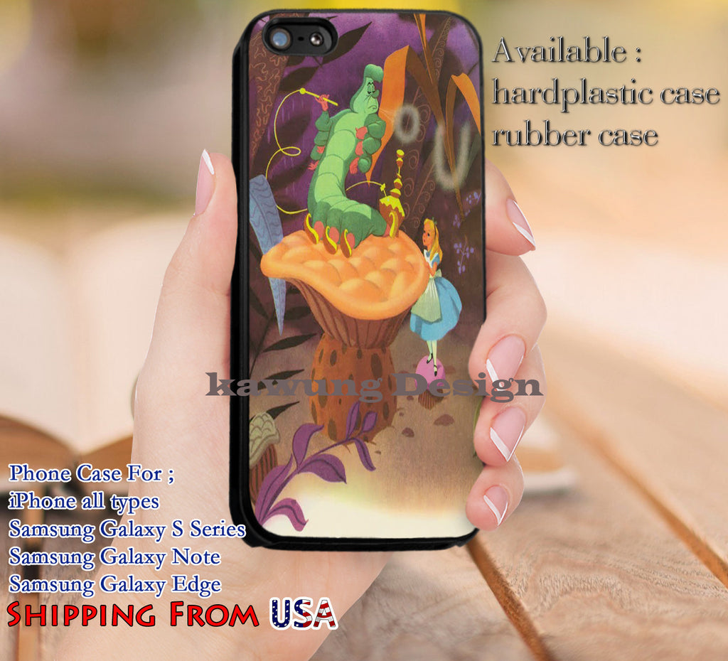 Alice & Hookah Caterpillar iPhone 6s 6 6s+ 5c 5s Cases Samsung Galaxy s5 s6 Edge+ NOTE 5 4 3 #cartoon #anime #alice dl11 - Kawung Design  - 1