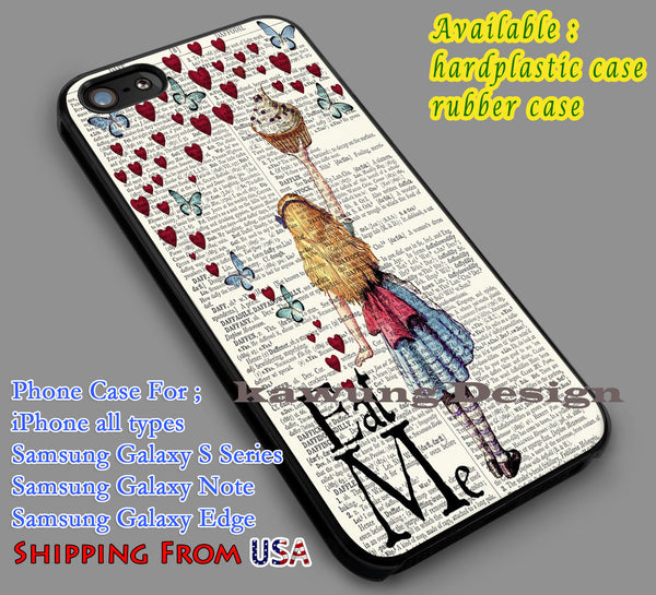 Alice in Wonderland , Disney, Tim Burton, alice wonderland quote, alice in Cases/Covers for iPhone 4/4s/5/5c/6/6+/6s/6s+ Samsung Galaxy S4/S5/S6 Edge NOTE 3/4/5