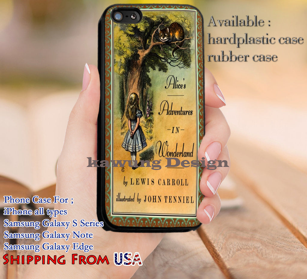 Alice in Wonderland Book Cover iPhone 6s 6 6s+ 5c 5s Cases Samsung Galaxy s5 s6 Edge+ NOTE 5 4 3 #cartoon #anime #alice dl14 - Kawung Design  - 1