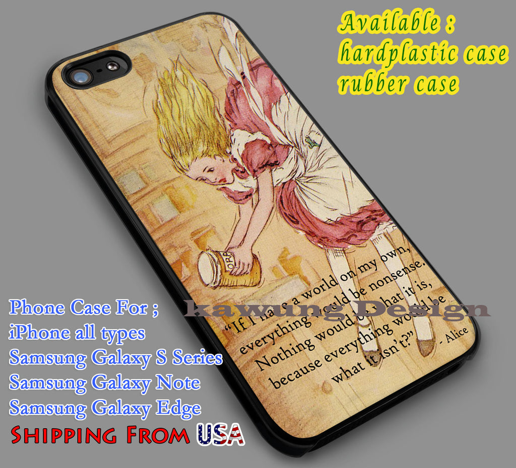 Alice in Wonderland Vintage iPhone 6s 6 6s+ 5c 5s Cases Samsung Galaxy s5 s6 Edge+ NOTE 5 4 3 #cartoon #anime #alice dl7 - Kawung Design  - 1
