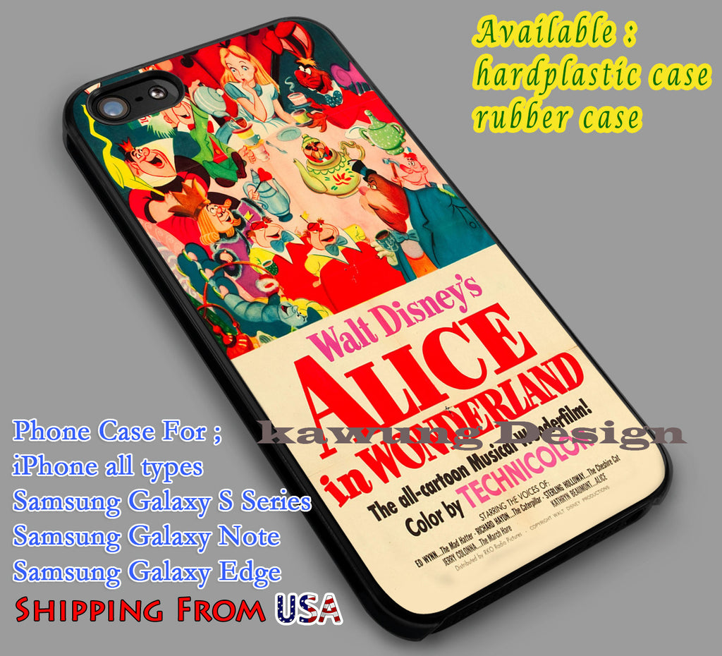 Alice in Wonderland Vintage Poster | Disney iPhone 6s 6 6s+ 6plus Cases Samsung Galaxy s5 s6 Edge+ NOTE 5 4 3 #cartoon #anime #alice dl2 - Kawung Design  - 1